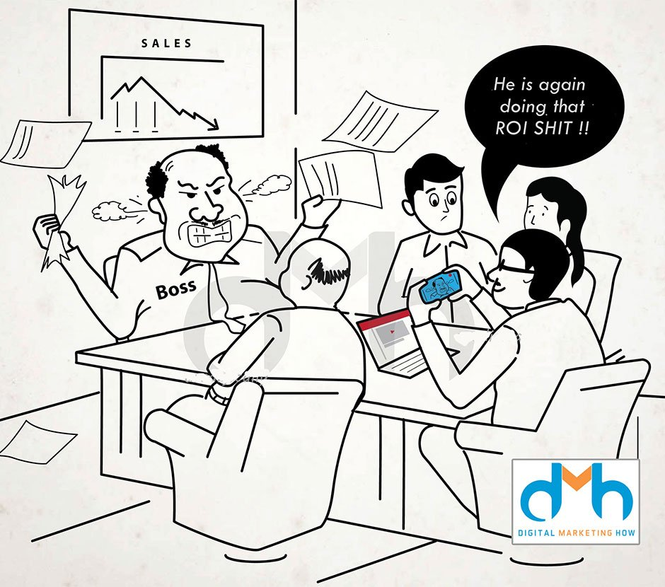 digital marketing ROI cartoon